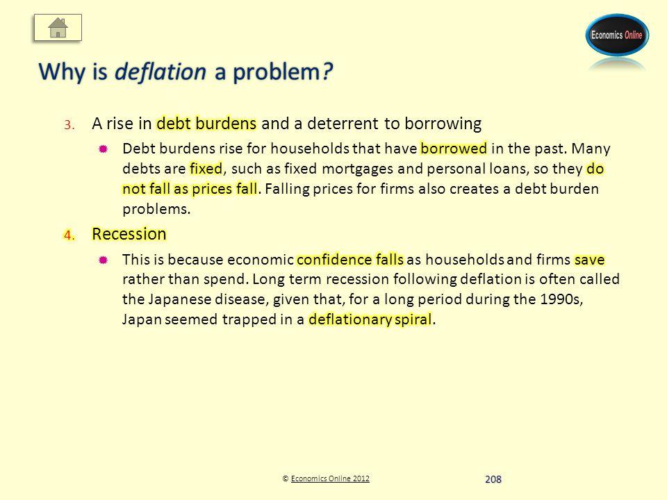 © Economics Online 2012Economics Online 2012 Why is deflation a problem 208
