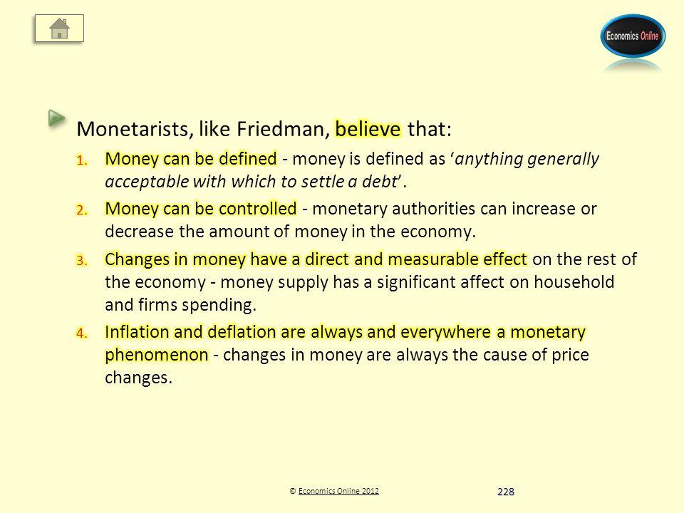 © Economics Online 2012Economics Online 2012 228