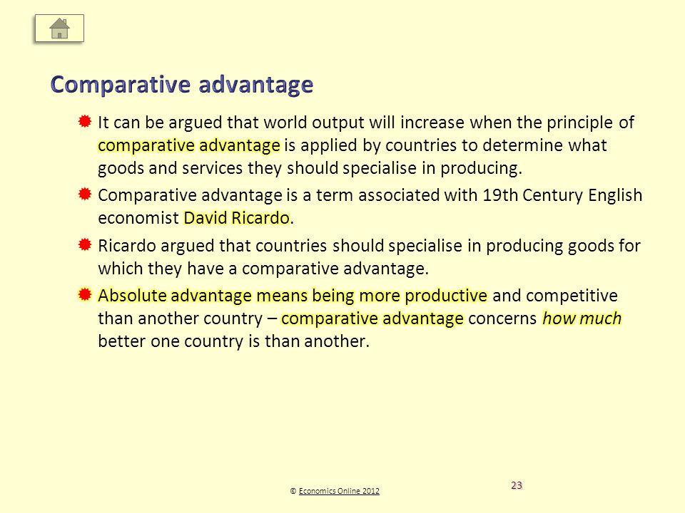 © Economics Online 2012Economics Online 2012 23