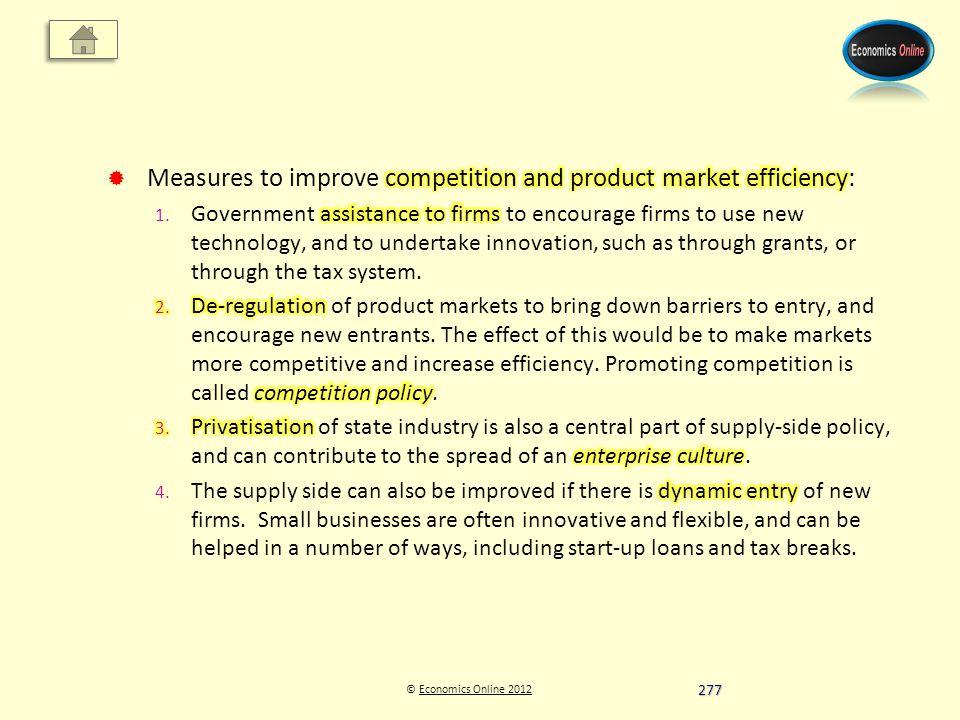 © Economics Online 2012Economics Online 2012 277