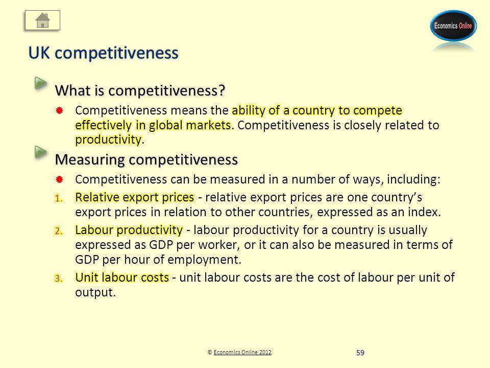 © Economics Online 2012Economics Online 2012 UK competitiveness 59