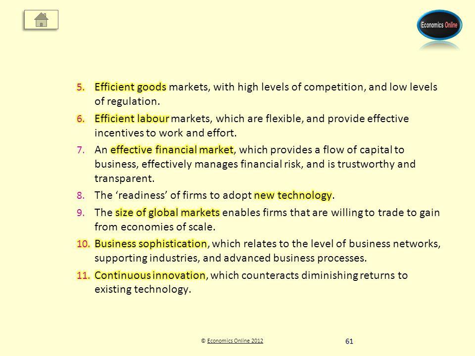 © Economics Online 2012Economics Online 2012 61