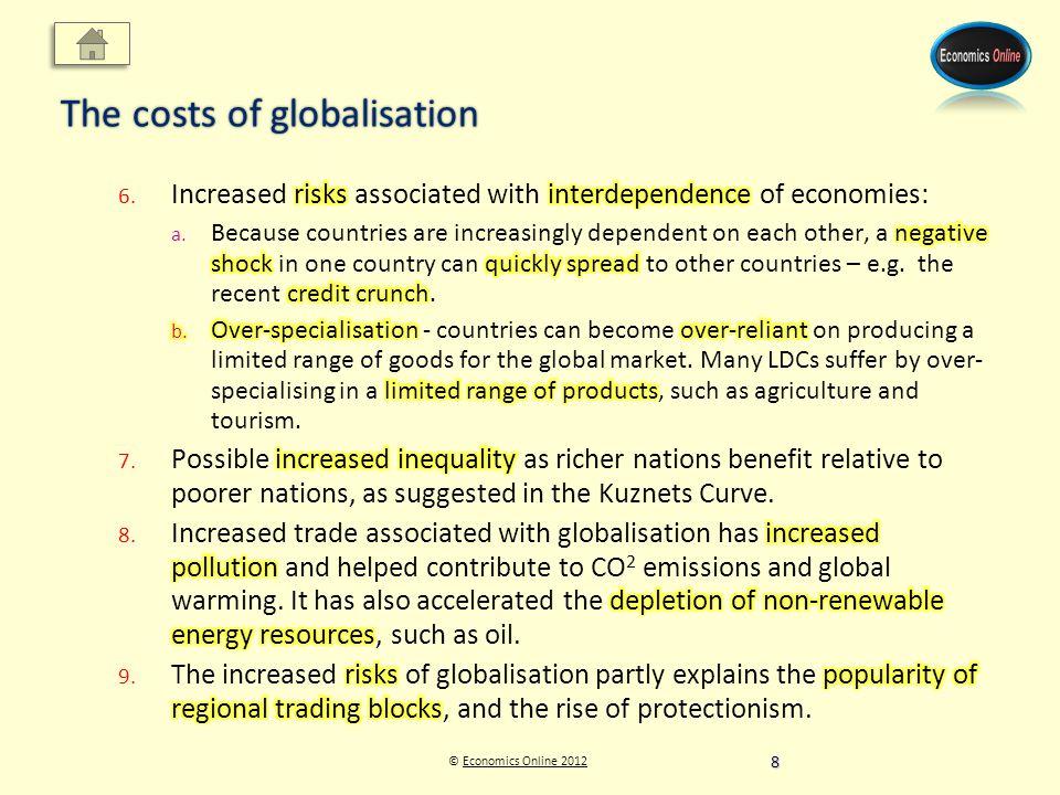© Economics Online 2012Economics Online 2012 The costs of globalisation 8