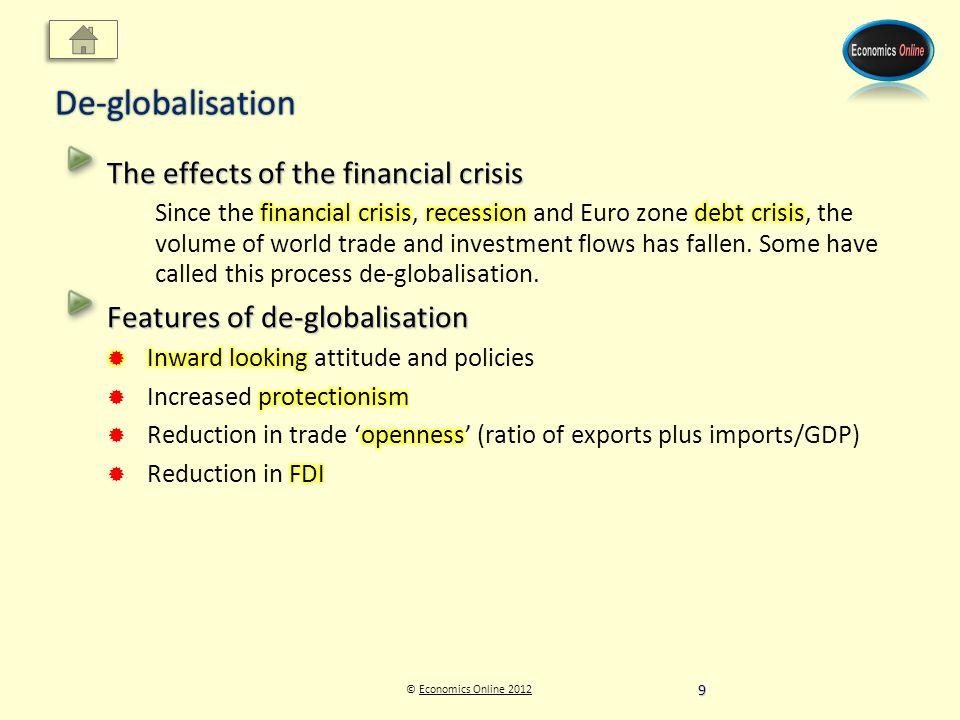 © Economics Online 2012Economics Online 2012De-globalisation 9