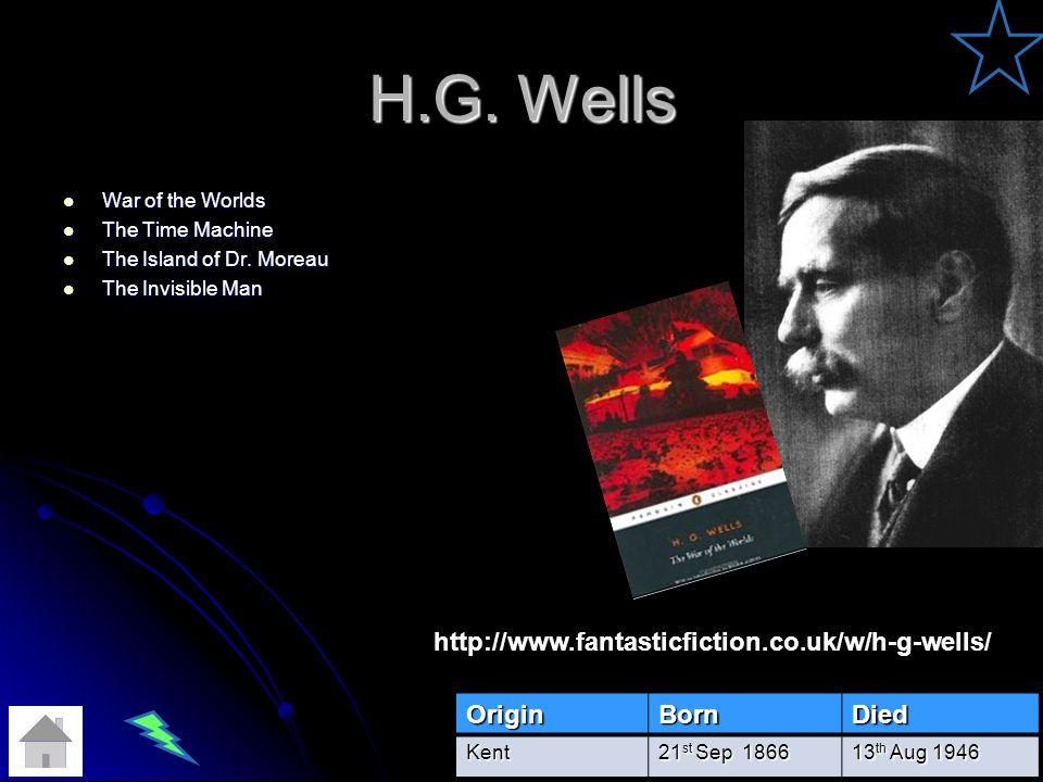H.G.Wells War of the Worlds War of the Worlds The Time Machine The Time Machine The Island of Dr.