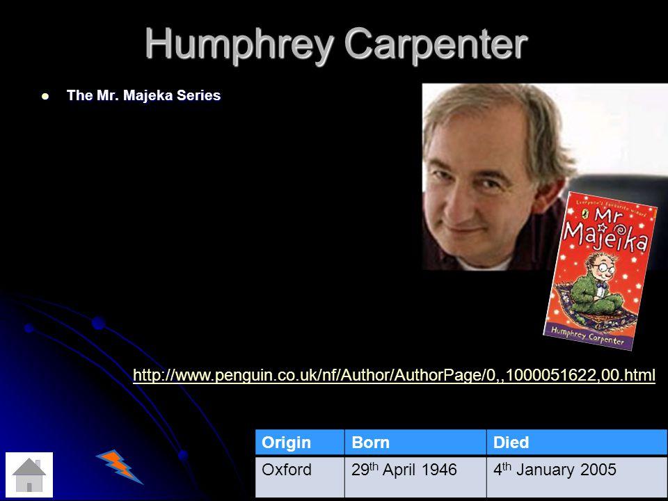 Humphrey Carpenter The Mr.Majeka Series The Mr.