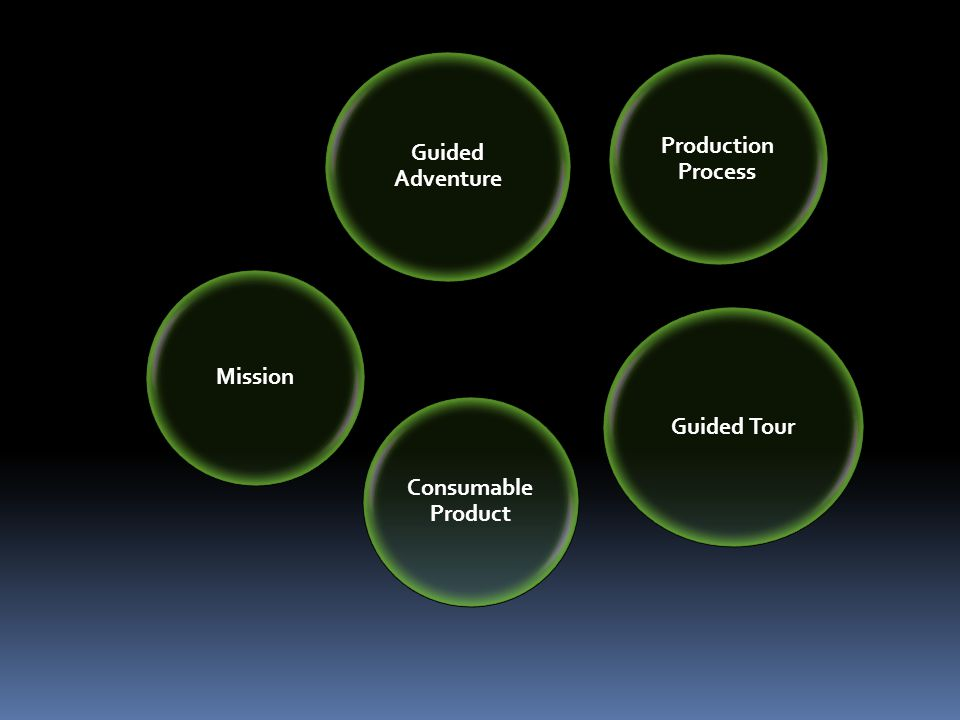 Guided Tour Guided Adventure Production Process Consumable Product Mission