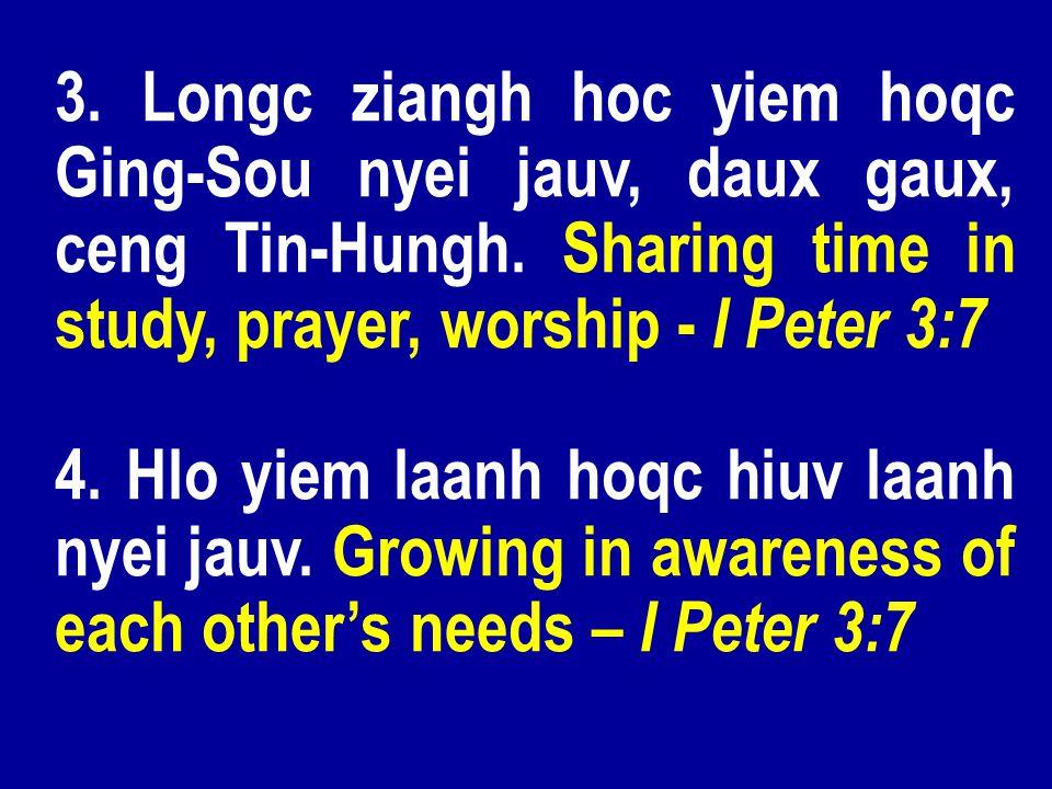 3. Longc ziangh hoc yiem hoqc Ging-Sou nyei jauv, daux gaux, ceng Tin-Hungh.