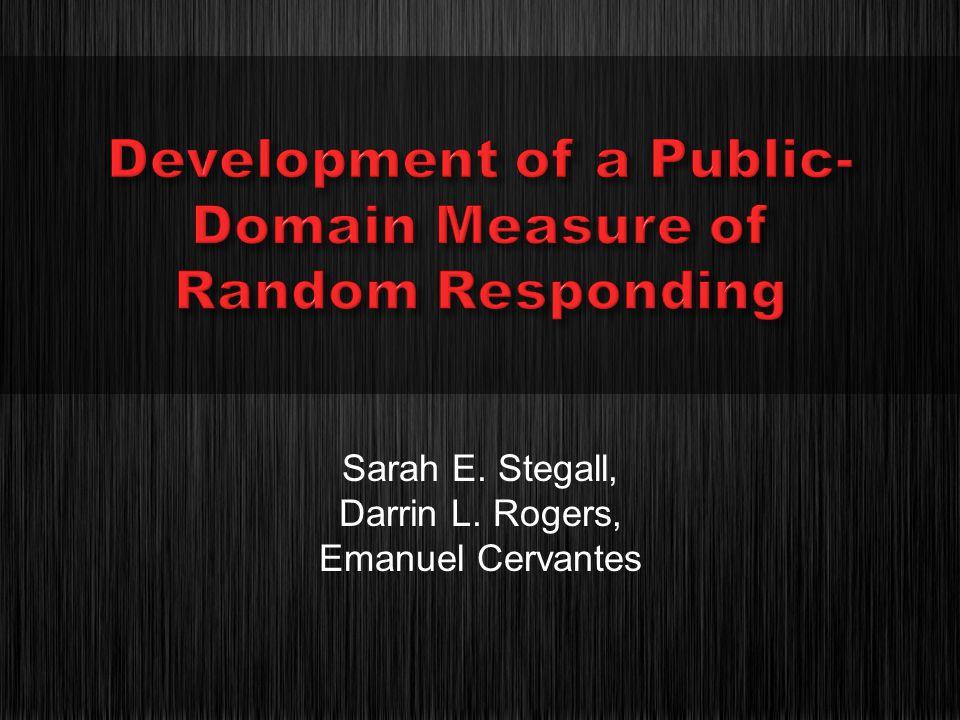 Sarah E. Stegall, Darrin L. Rogers, Emanuel Cervantes