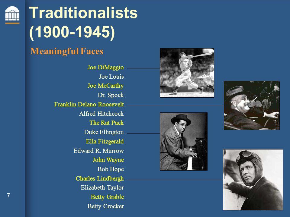 7 Joe DiMaggio Joe Louis Joe McCarthy Dr.