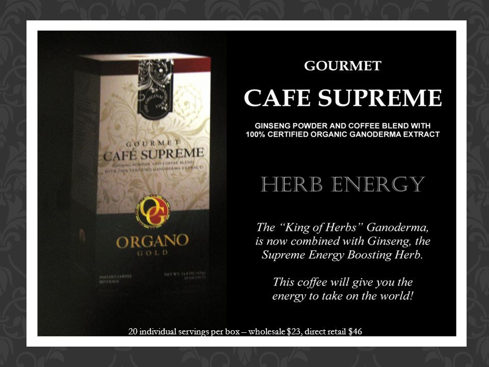 ROYALBREWED Organo Gold does it again.