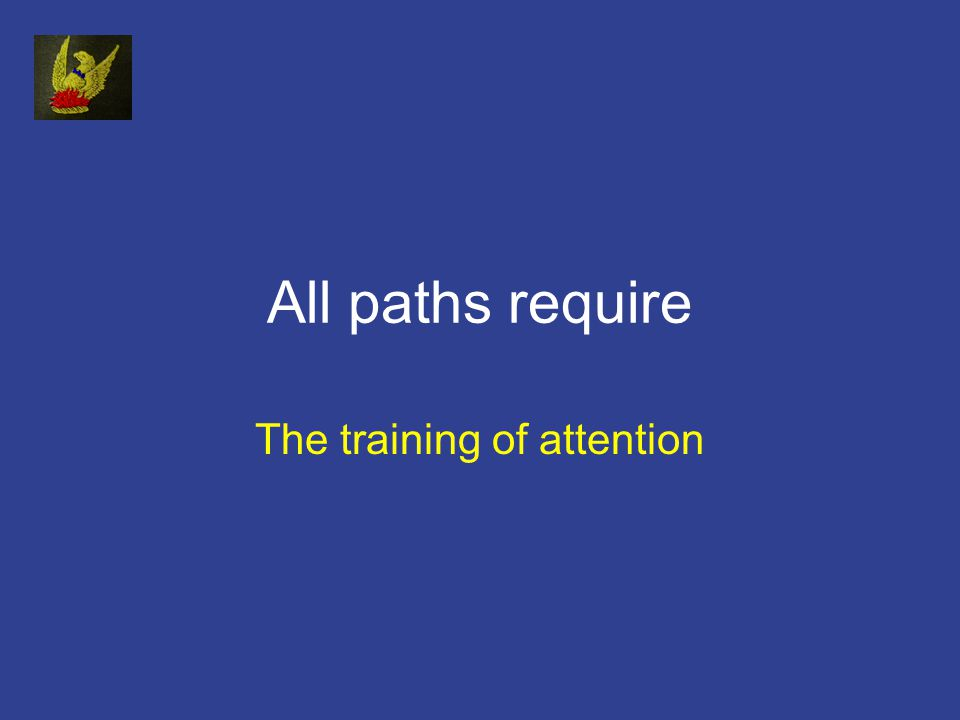 All paths require The training of attention