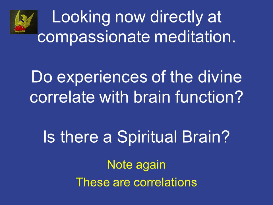 Looking now directly at compassionate meditation.