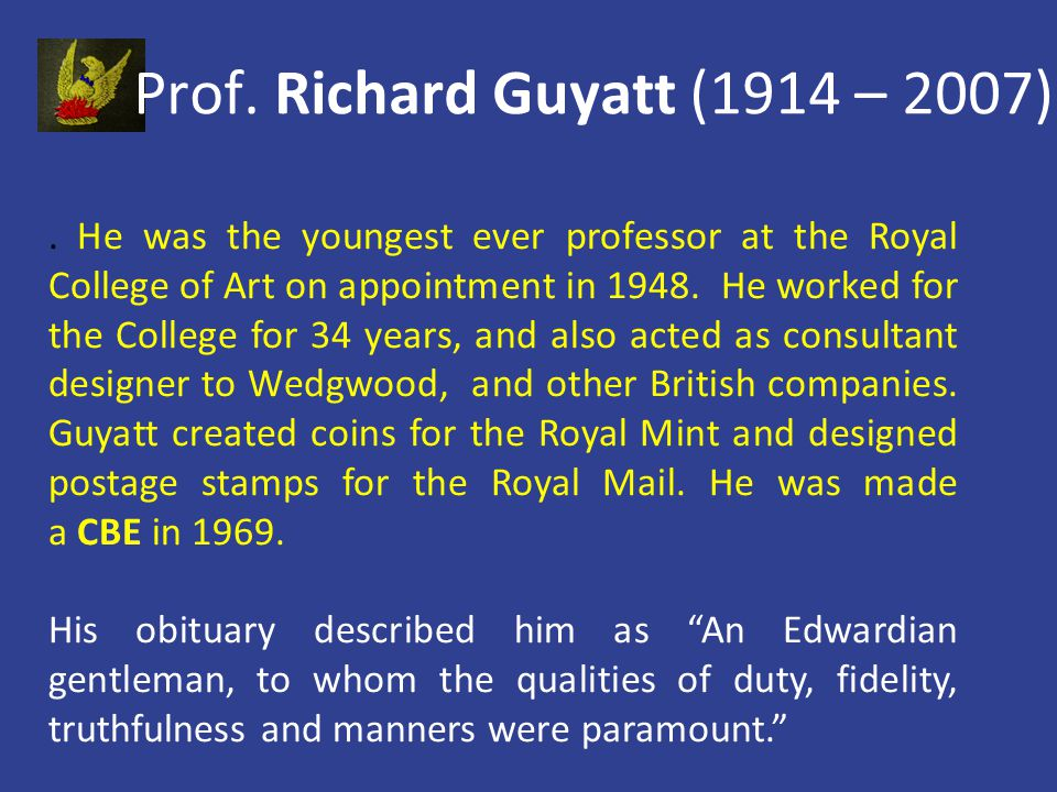 He was the youngest ever professor at the Royal College of Art on appointment in 1948.