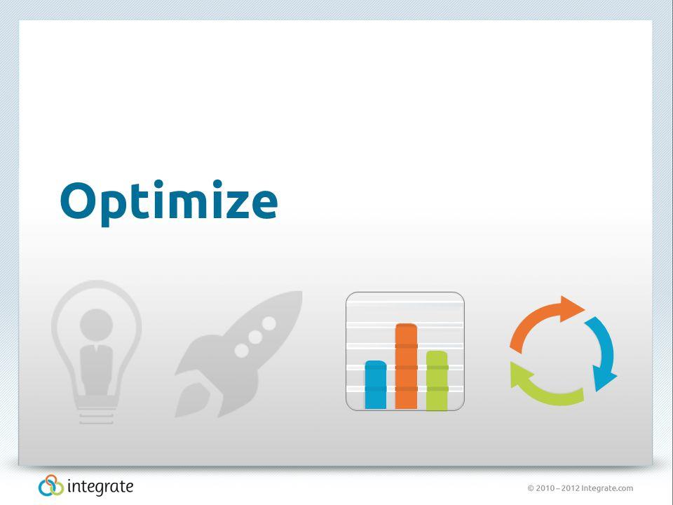 © 2010 – 2012 Integrate.com 19 Optimize