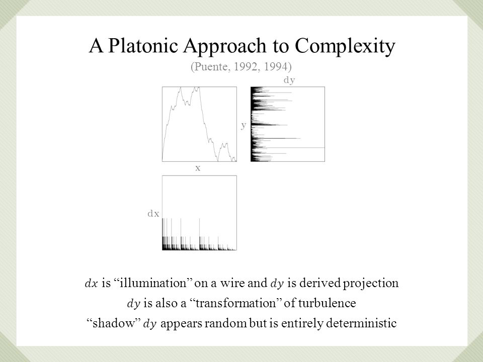 (Puente, 1992, 1994) A Platonic Approach to Complexity