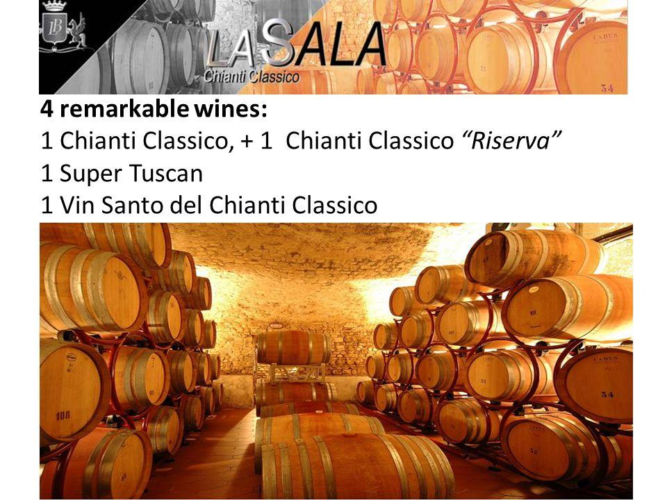 4 remarkable wines: 1 Chianti Classico, + 1 Chianti Classico Riserva 1 Super Tuscan 1 Vin Santo del Chianti Classico