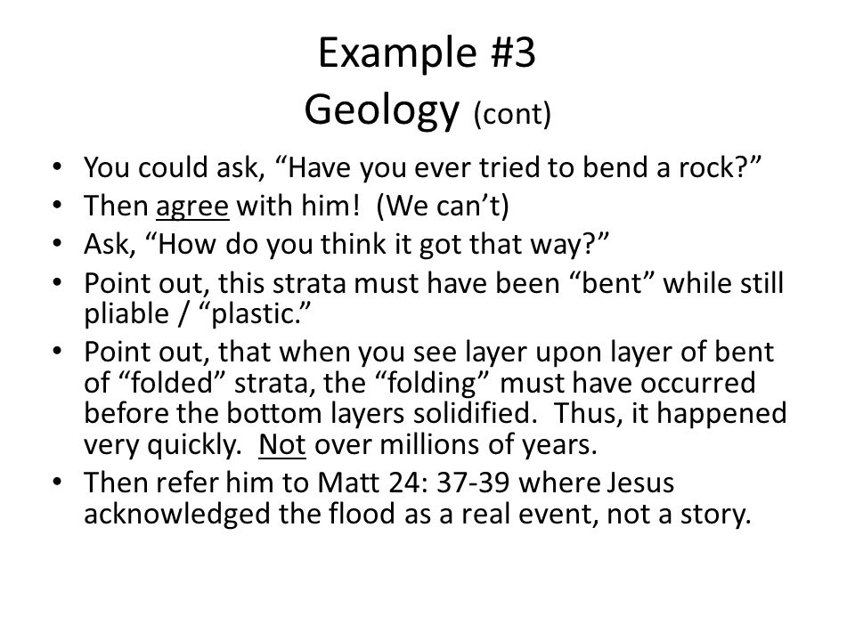 Example #3 Geology - Is the Bible True.