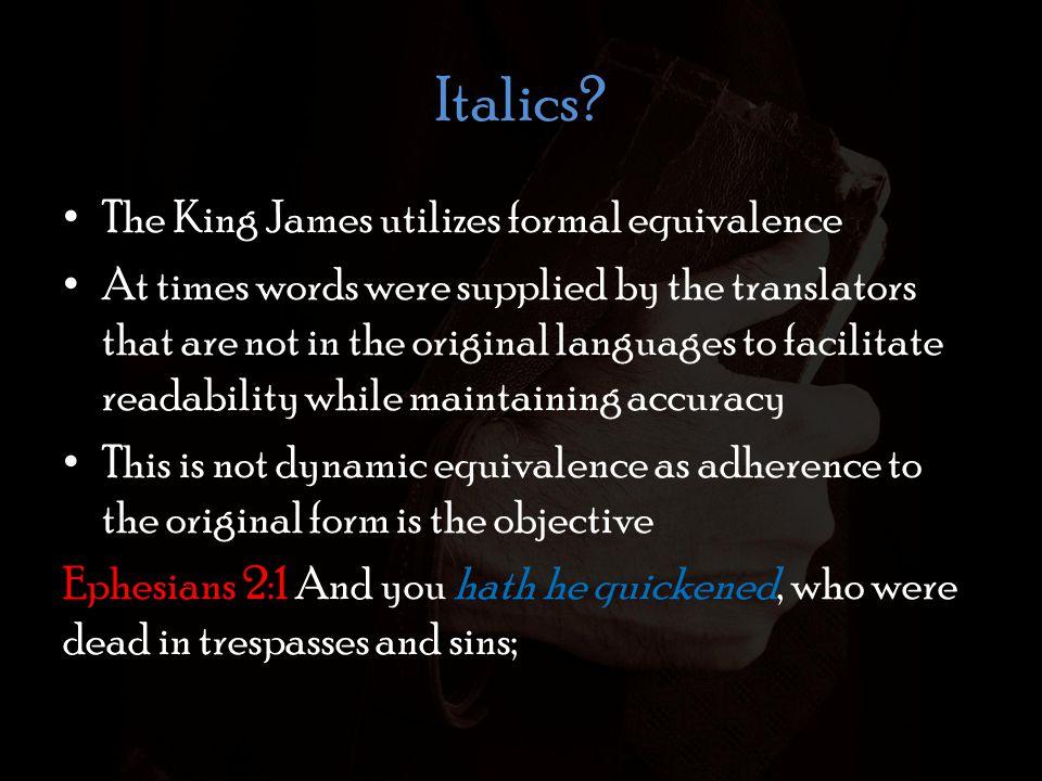 Italics.