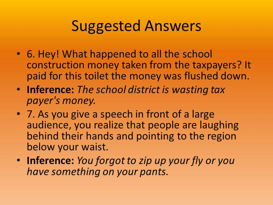 Suggested Answers 6. Hey.