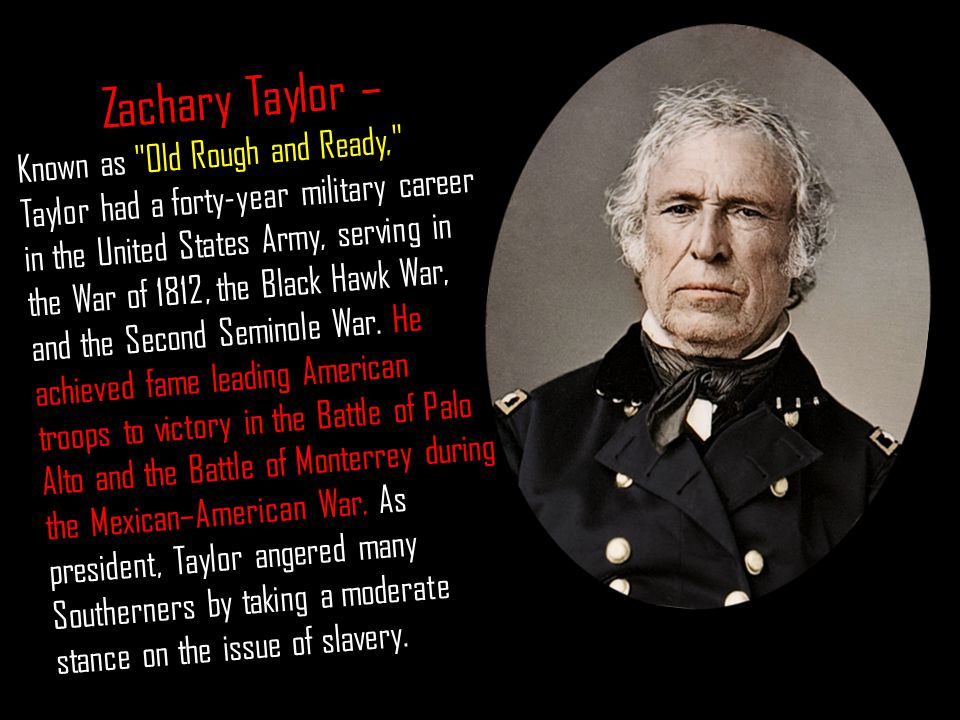 Zachary Taylor – Known as