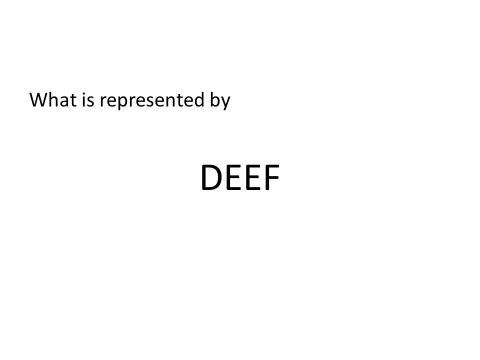 What is represented by DEEF