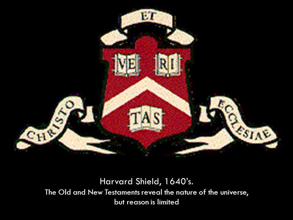 Harvard Shield, 1640s.