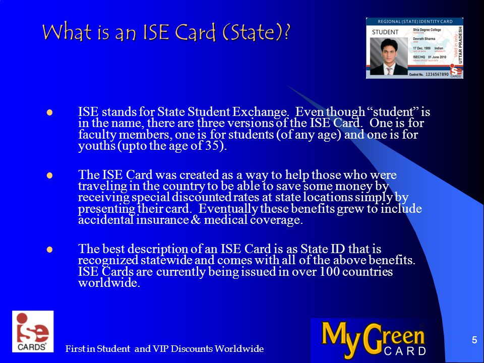26 Why do I need an ISE Cards.This is a question that we receive quite often.