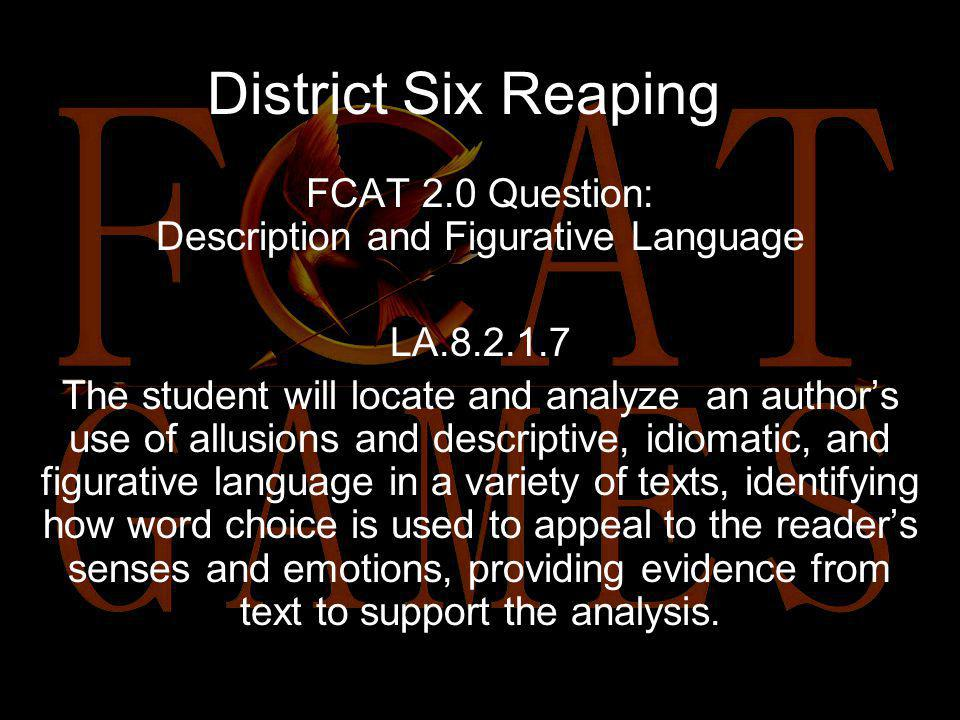 District Six Reaping Read the excerpt: As we step into the cool, windy, evening air, I catch my breath at the view. The Capitol twinkles like a vast f