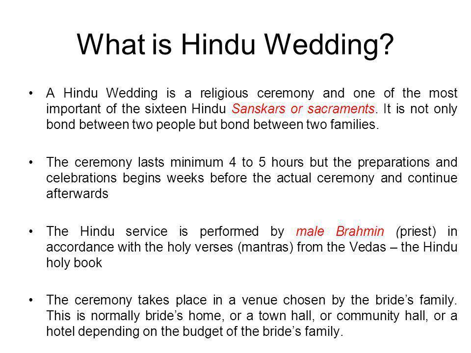 What is Hindu Wedding.