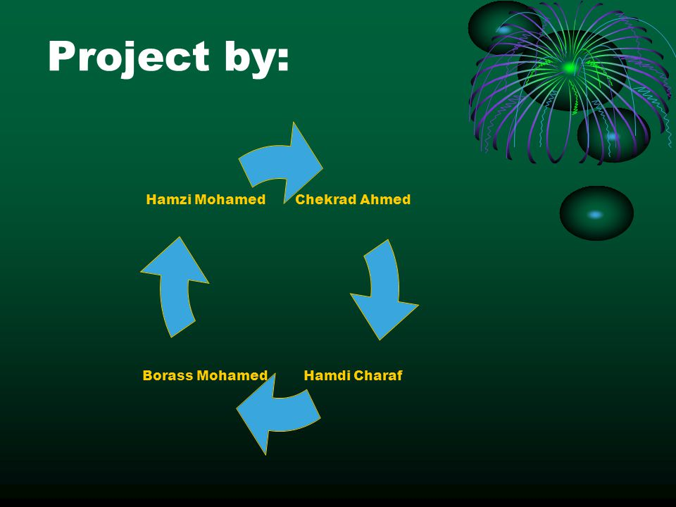 Project by: Chekrad Ahmed Hamdi Charaf Borass Mohamed Hamzi Mohamed