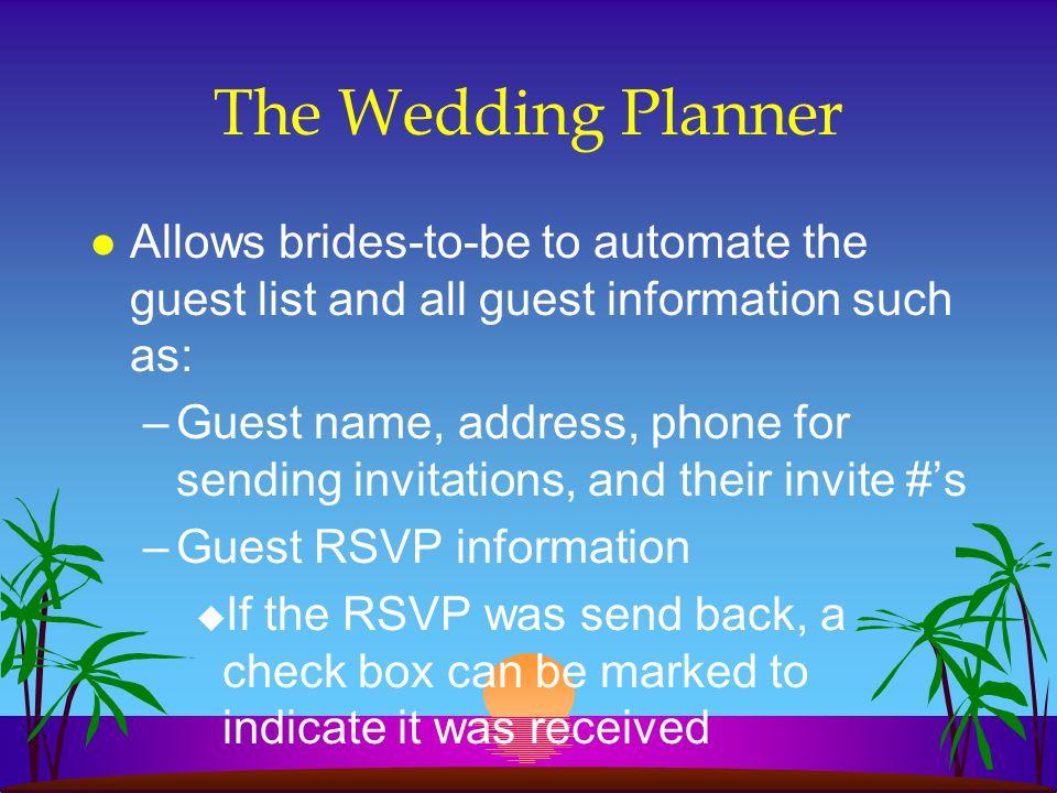 Guest Information cont.
