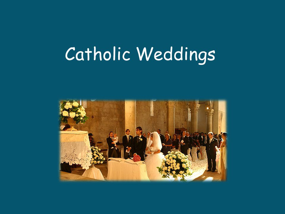 Couples are required to first approach the priest 3 – 12 months before they wish to schedule the wedding Archdiocese of Cincinnati - 6 months This is true for most religions – not just Catholicism