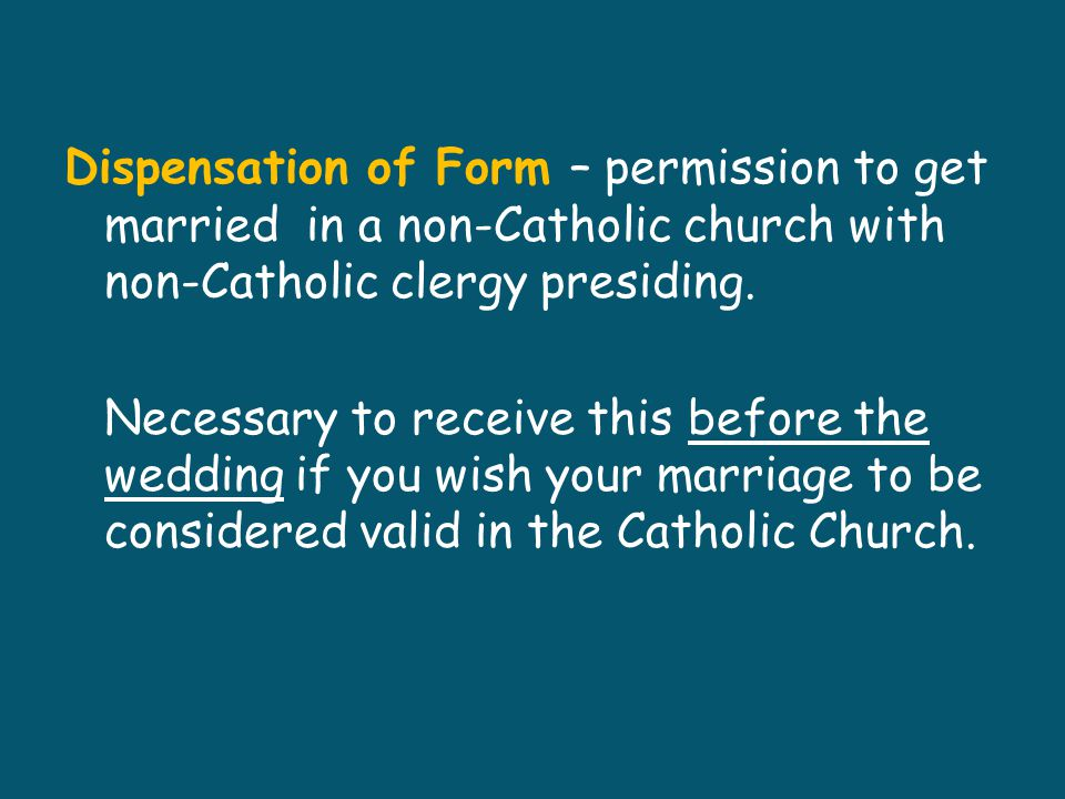 The Entrance Procession Instrumental music Anyone in the Wedding Party may walk down the aisle Two commonly used formats Opening hymn is sung once everyone is in the front of the church