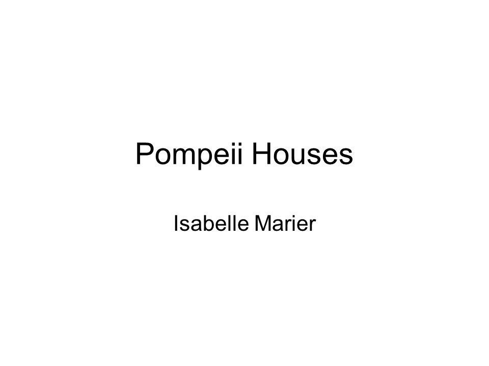 Pompeii Houses Isabelle Marier
