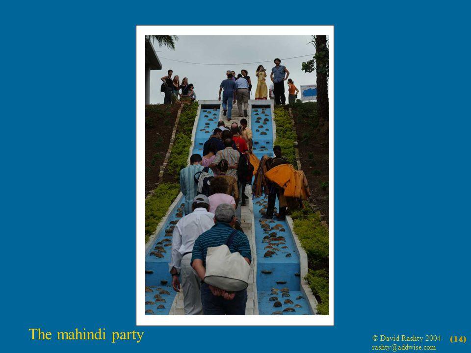 © David Rashty 2004 rashty@addwise.com (14) The mahindi party