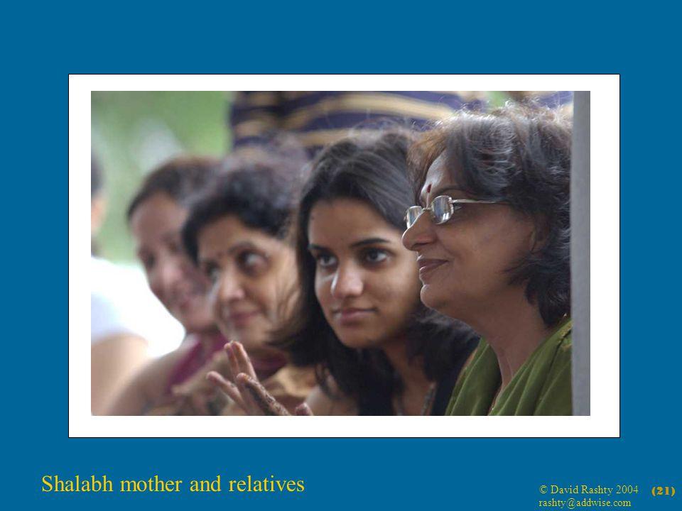 © David Rashty 2004 rashty@addwise.com (21) Shalabh mother and relatives
