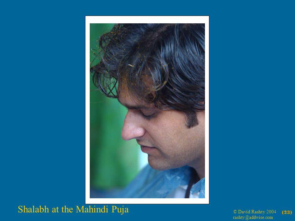 © David Rashty 2004 rashty@addwise.com (23) Shalabh at the Mahindi Puja