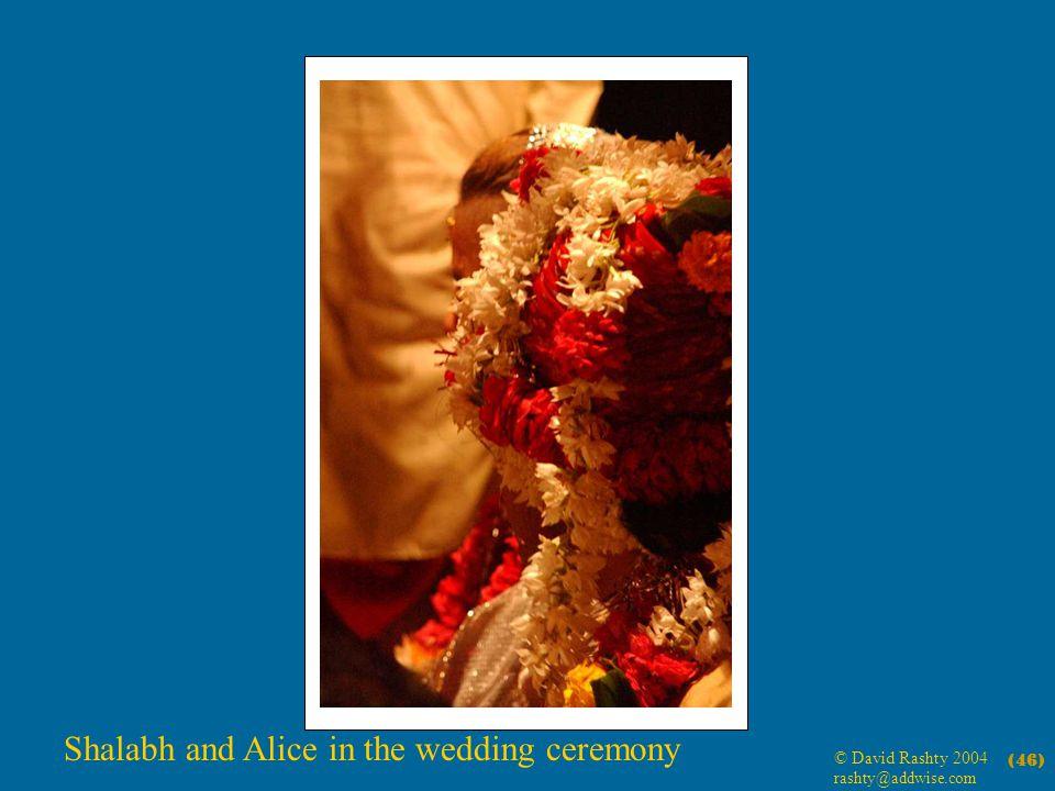 © David Rashty 2004 rashty@addwise.com (46) Shalabh and Alice in the wedding ceremony
