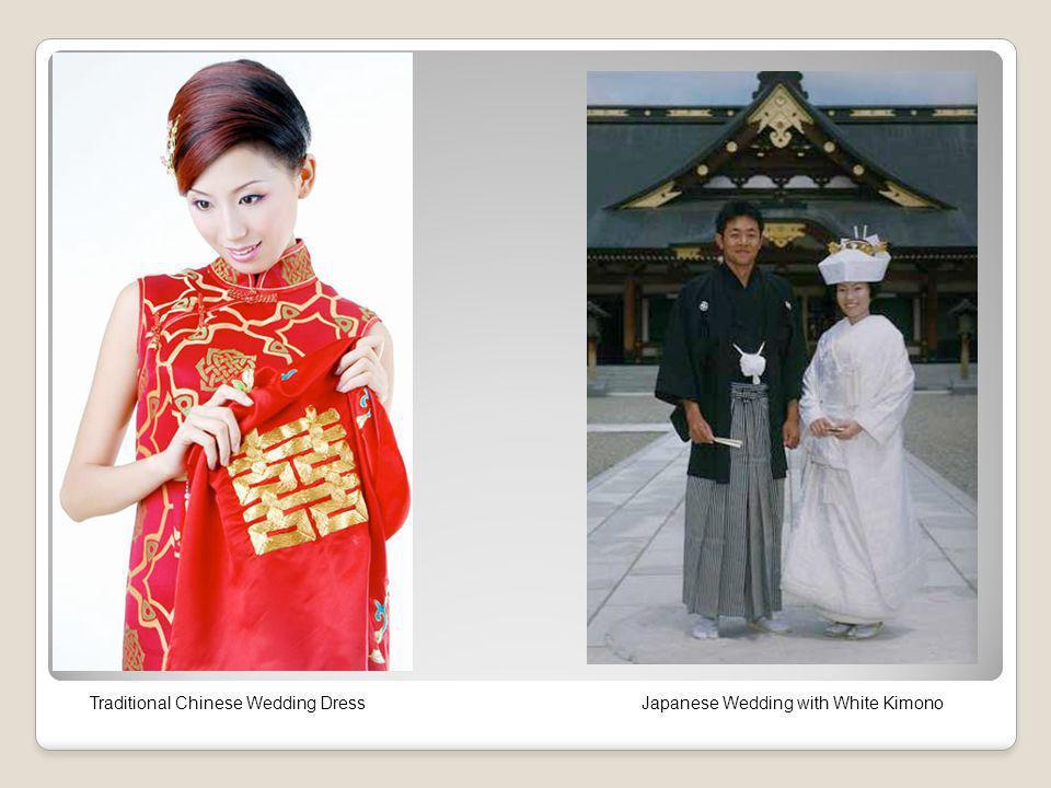 Traditional Chinese Wedding DressJapanese Wedding with White Kimono