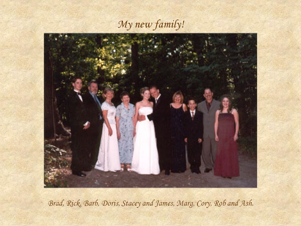 My new family! Brad, Rick, Barb, Doris, Stacey and James, Marg, Cory, Rob and Ash.
