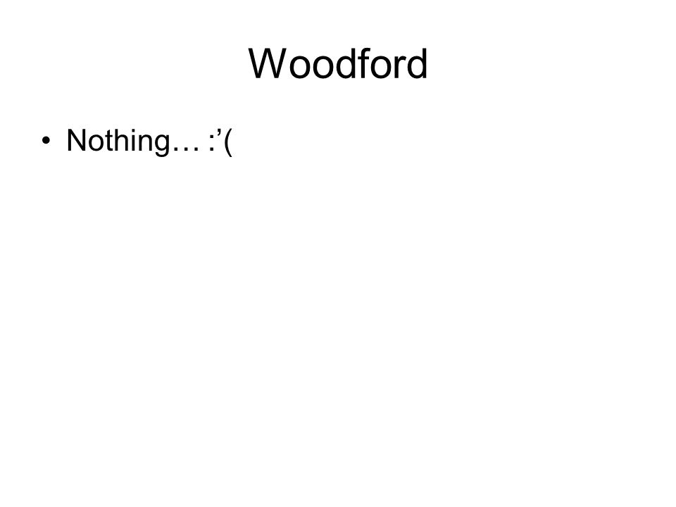 Woodford Nothing… :(