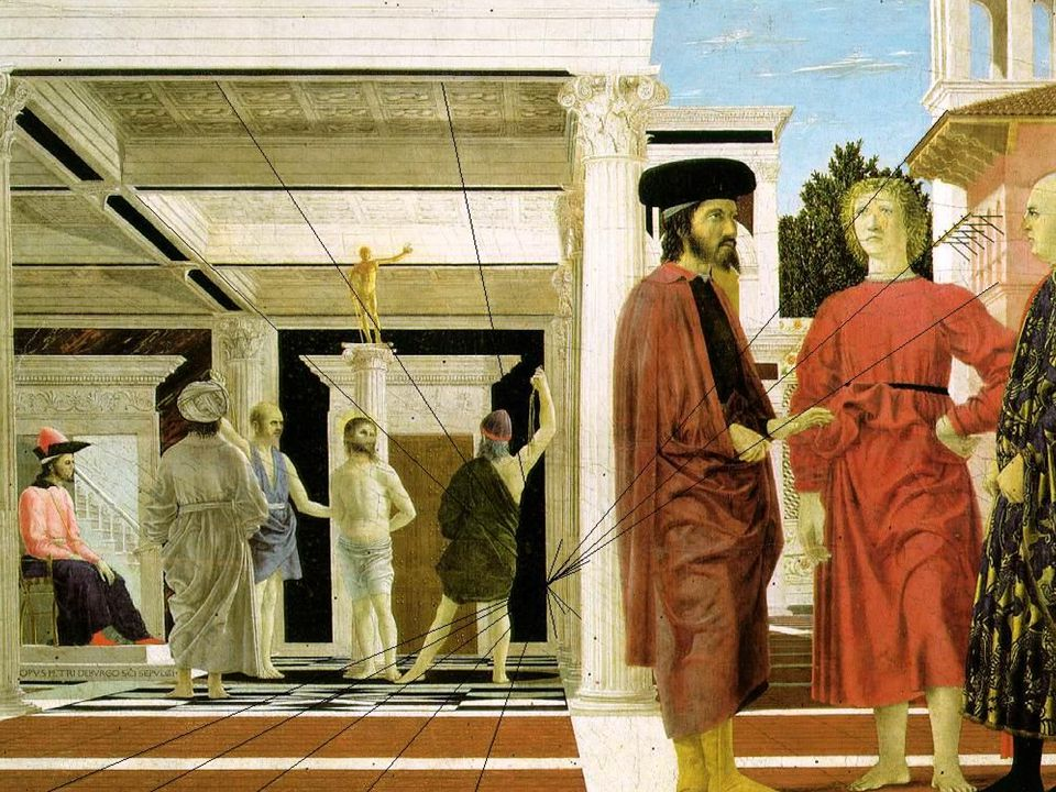 Perspective in the Flagellation of Christ