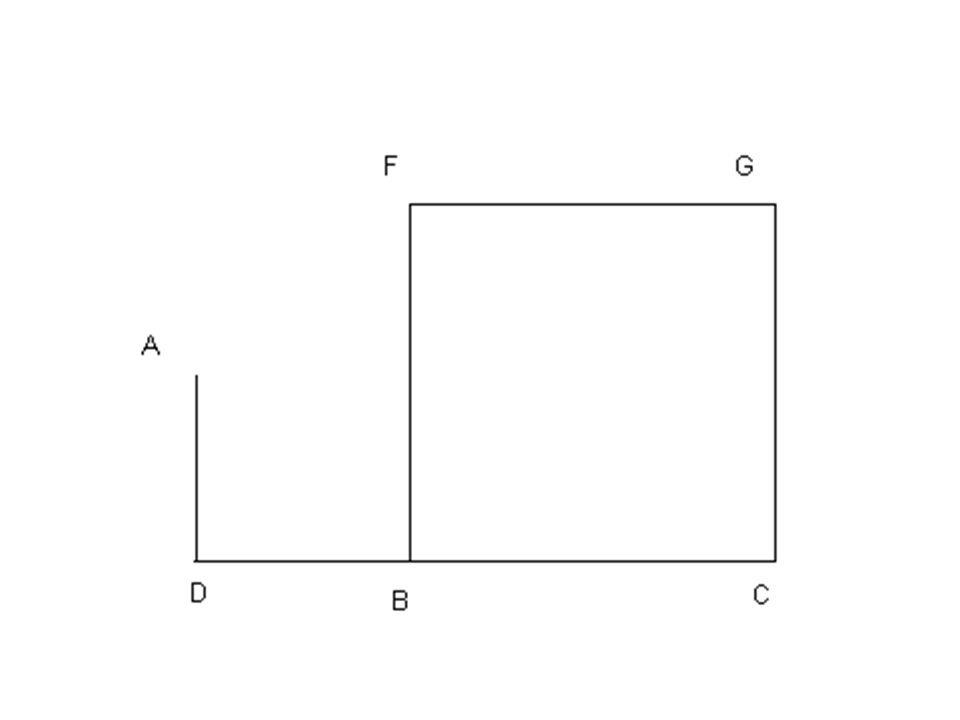 Draw a square in perspective:
