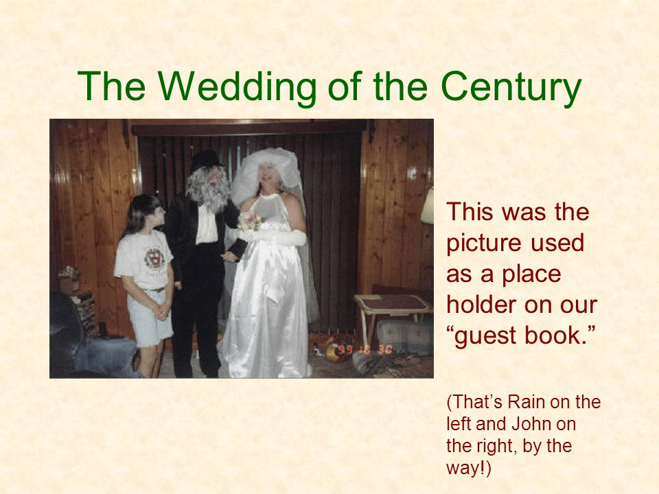 The Wedding of the Century This is the picture that will replace it!