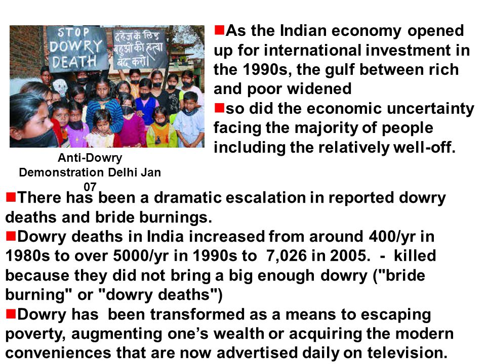 As the Indian economy opened up for international investment in the 1990s, the gulf between rich and poor widened so did the economic uncertainty faci