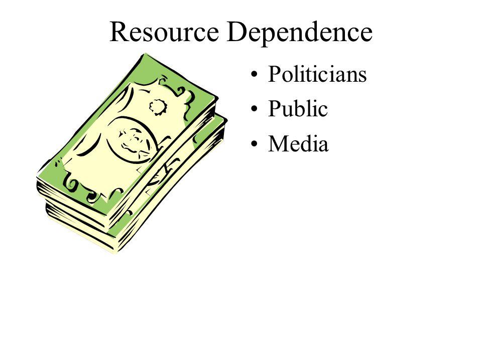 Resource Dependence Politicians Public Media