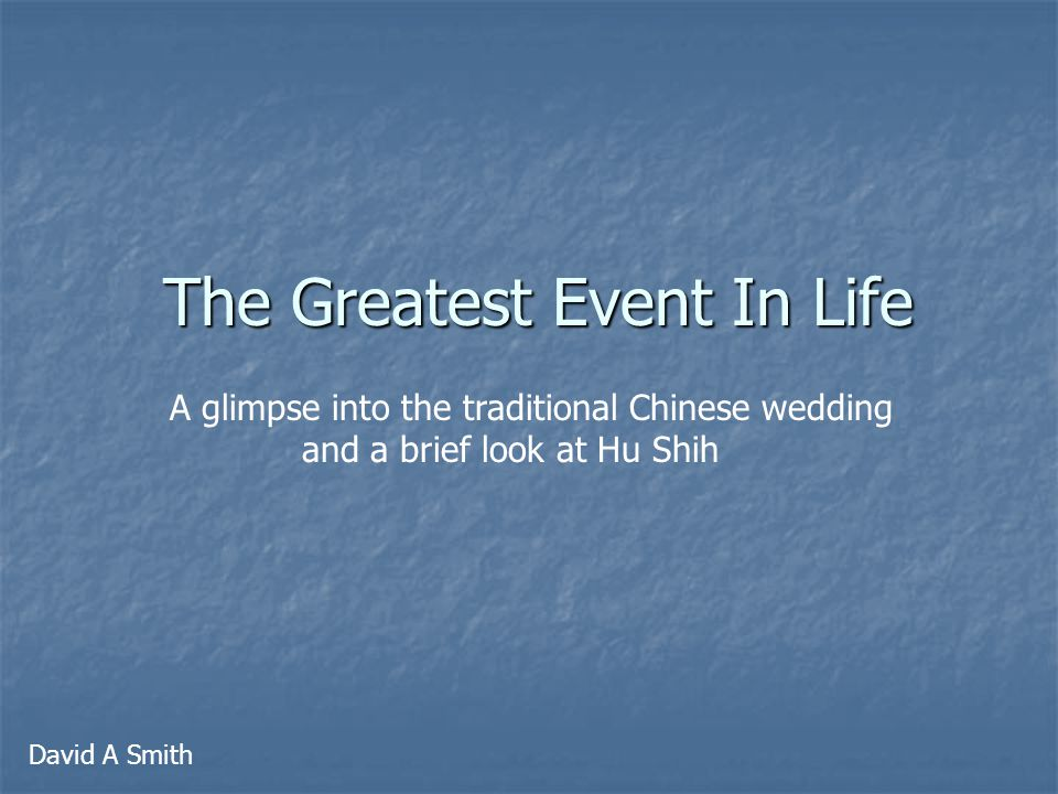 The Chinese Wedding Tradition The Proposal The Betrothal Preparing for the Wedding Day Day of the Wedding The Wedding
