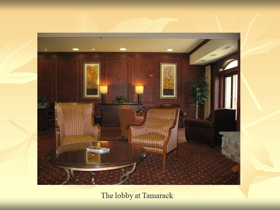 The lobby at Tamarack