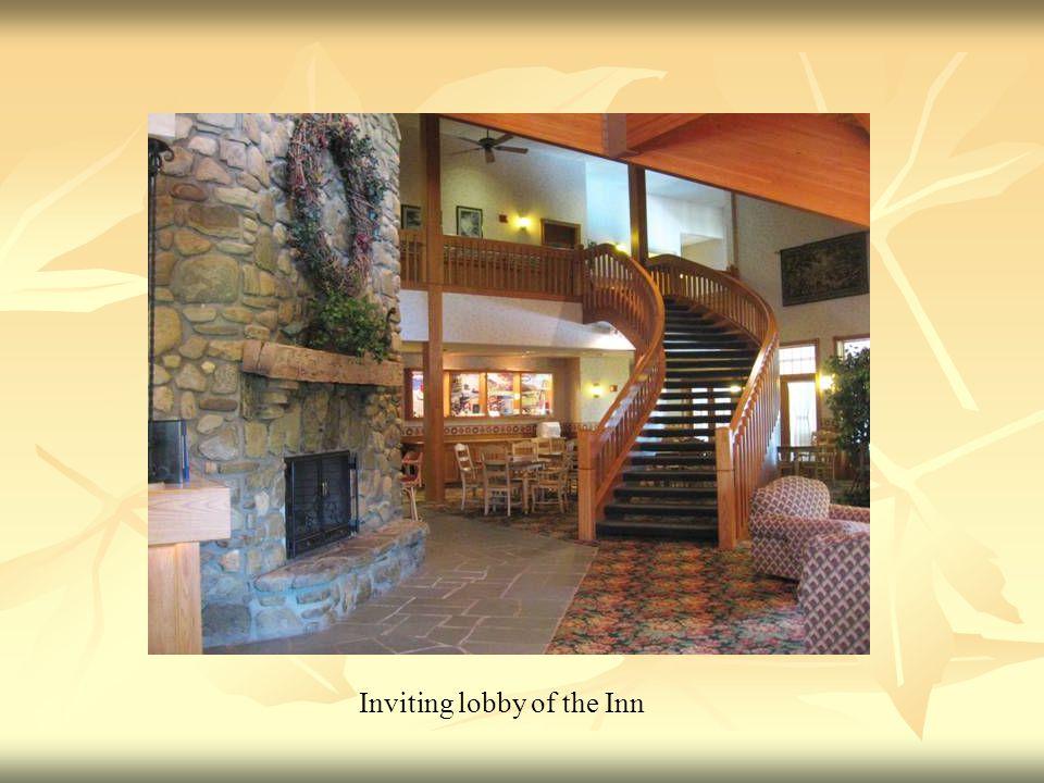 Inviting lobby of the Inn